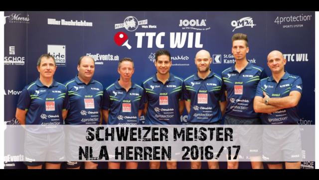 Der TTC Wil ist erneut Schweizer Meister!