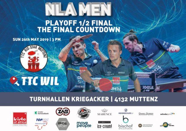 Entscheidungsspiel im Playoff-Halbfinal zwischen dem TTC Wil und Rio-Star Muttenz